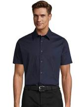 Herren Stretch-Kurzarmhemd Broadway