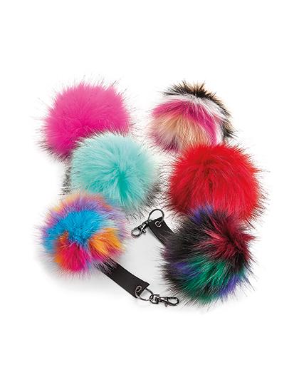 db49dfcd399 Fur Pop Pom Key Ring. 1 ...